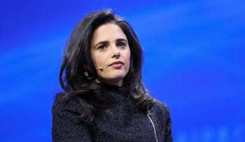 Justice Minister Ayelet Shaked attends the annual AIPAC conference in Washington, March 5, 2018.