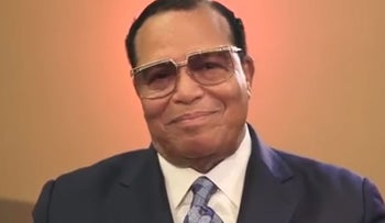 Image from Louis Farrakhan preaching on YouTube