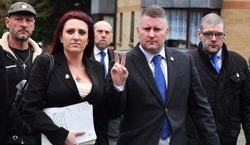 The deputy leader of far-right group Britain First was jailed on March 7, 2018 on charges of religiously aggravated harassment.