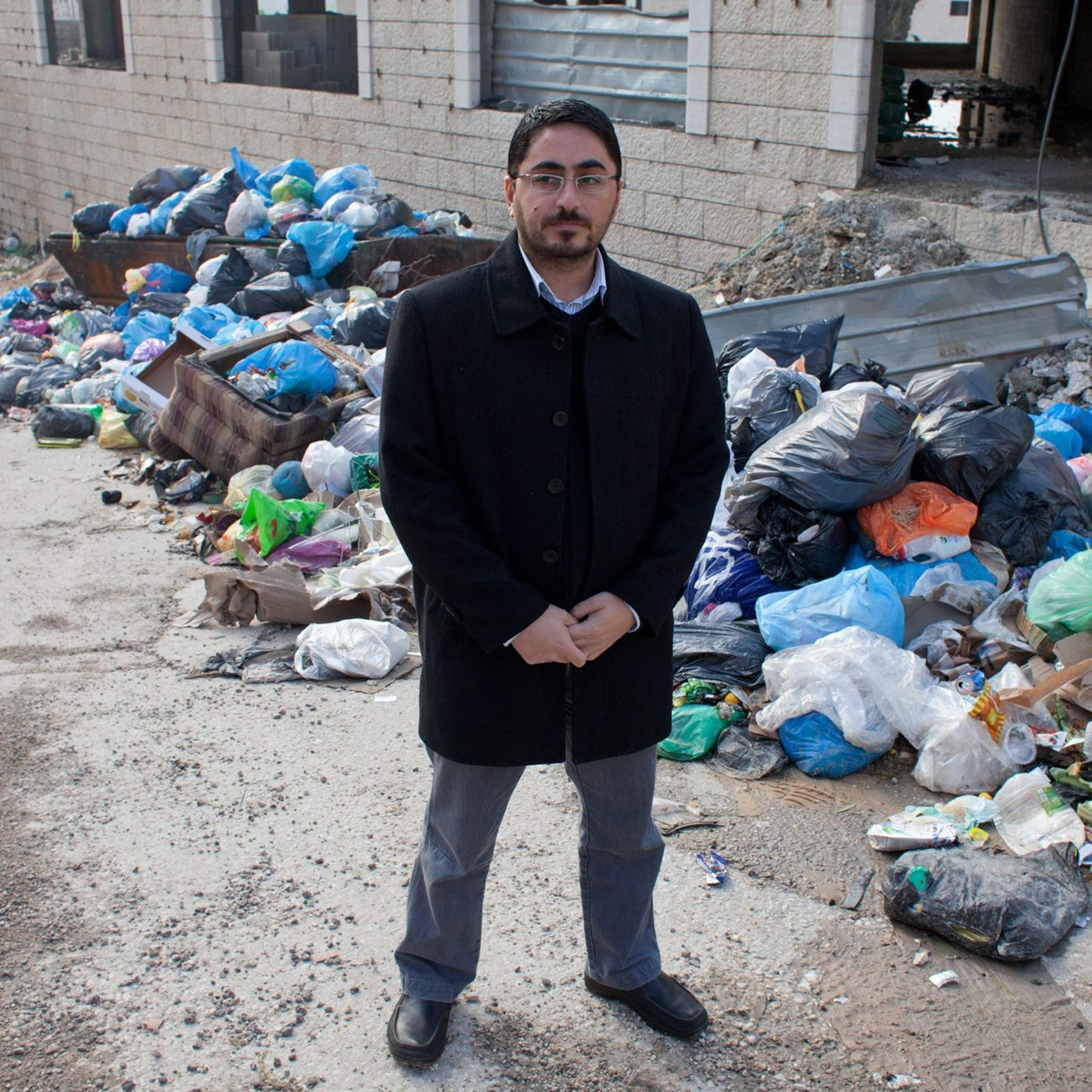 Ahmed Sub Laban, a researcher with Ir Amim, in Jerusalem's A-Ram neighborhood.