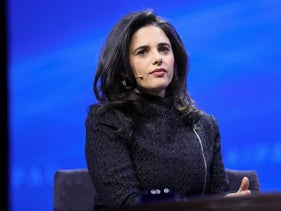 Israeli Justice Minister Ayelet Shaked at the 2018 AIPAC conference in Washington, D.C., March 5, 2018.