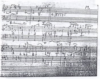 A copy of the nonet written on toilet paper by Czech composer Rudolf Karel, which was smuggled out of the Theresienstadt death camp before his death.