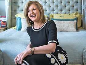 Arianna Huffington at her home in the Soho neighborhood of New York, April 18, 2016.
