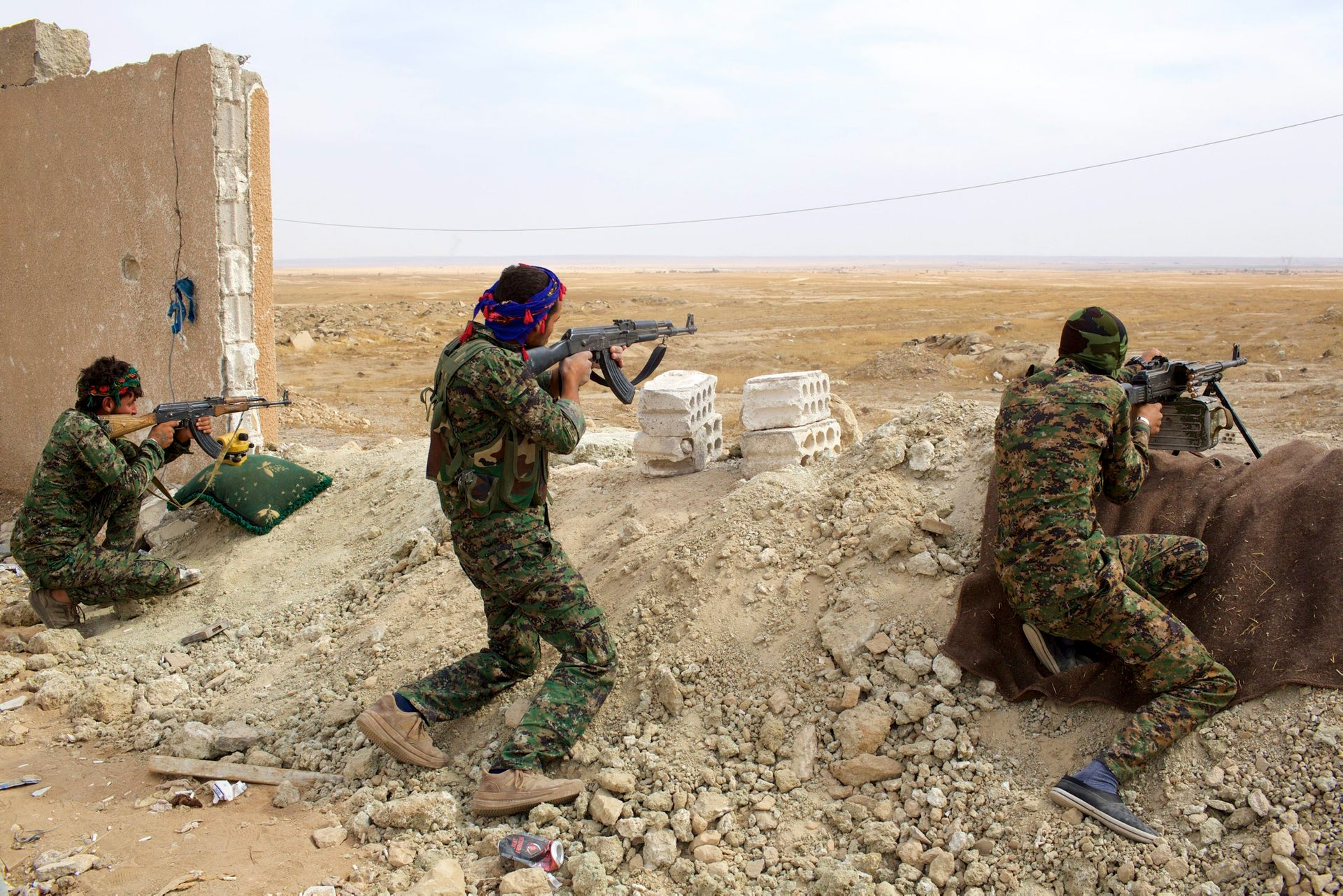People's Protection Units (YPG) soldiers in Northeast Syria.