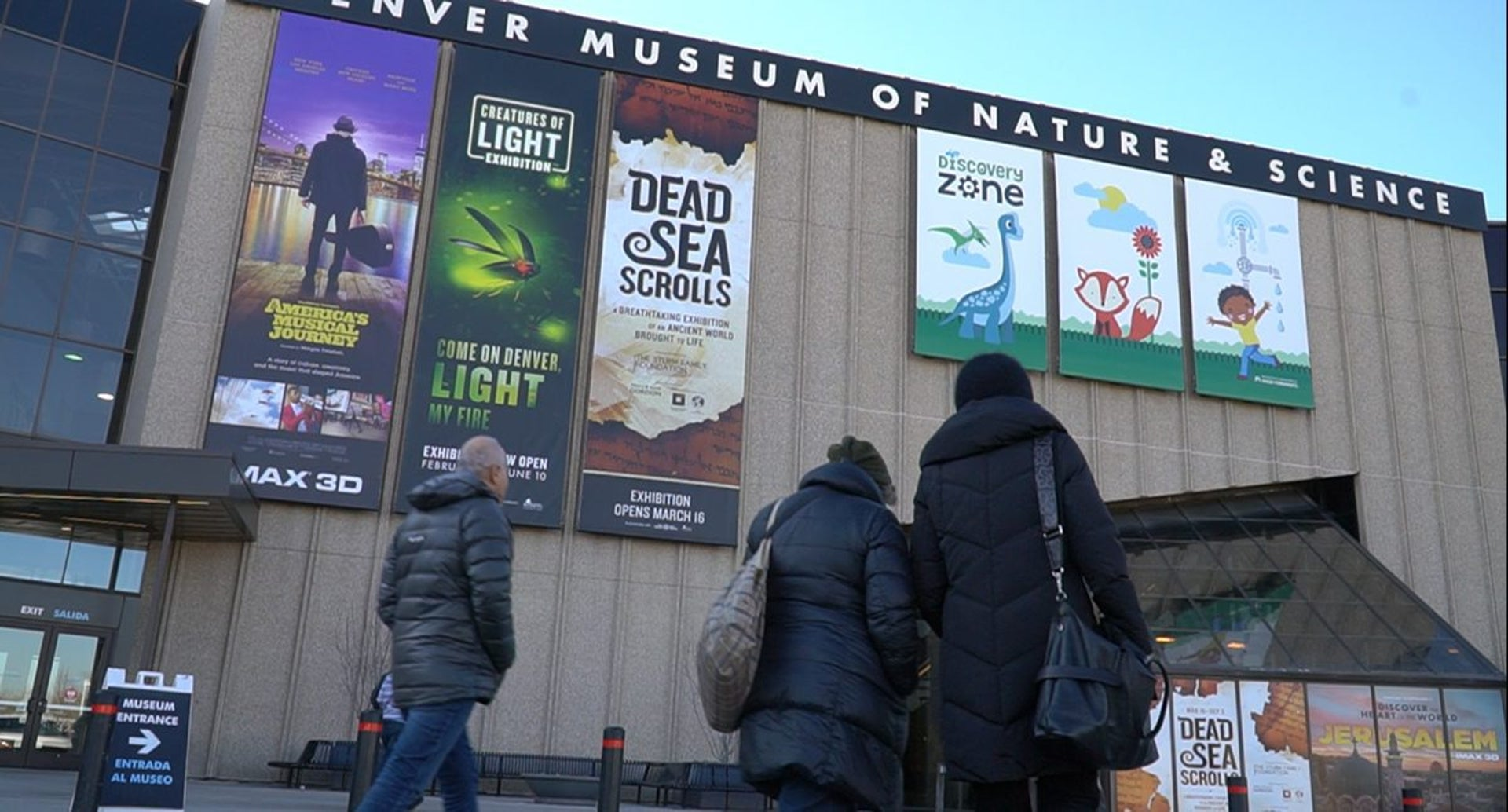 Entrance to the Denver Museum of Science and Nature, Dead Sea Scrolls Exhibit