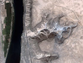 A satellite image of the Syrian reactor several months after the Israeli strike