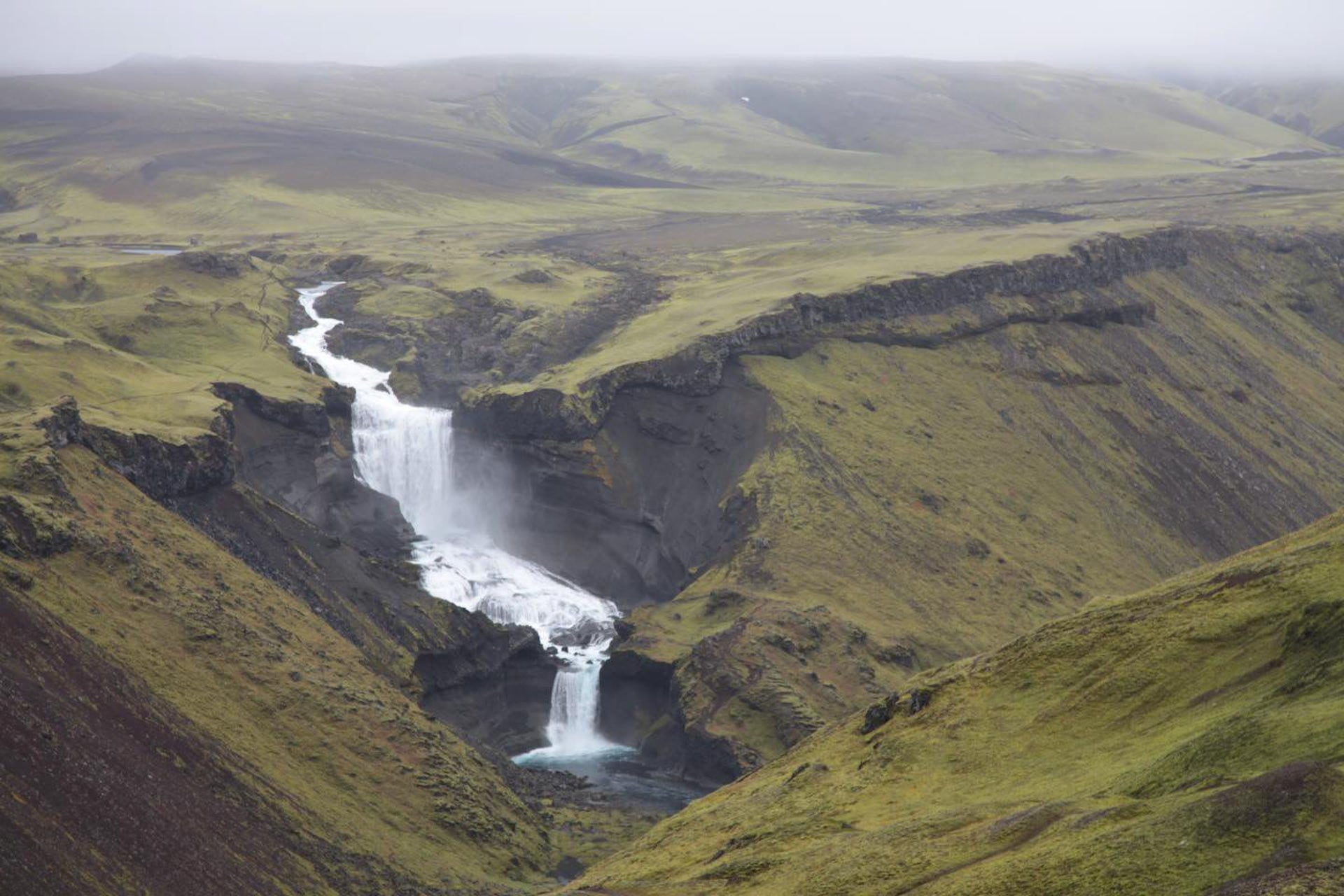 """Eldgjá (""""fire canyon"""") is a volcano and a canyon in Iceland"""
