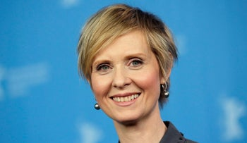 "Former ""Sex and the City"" star Cynthia Nixon"