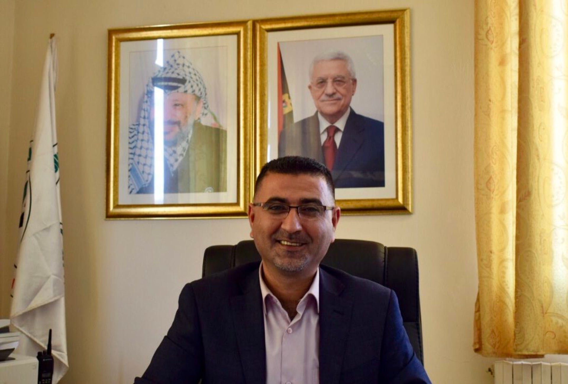 Fathi Amor, director of the public relations department at the Arab American University of Jenin, March, 2018.