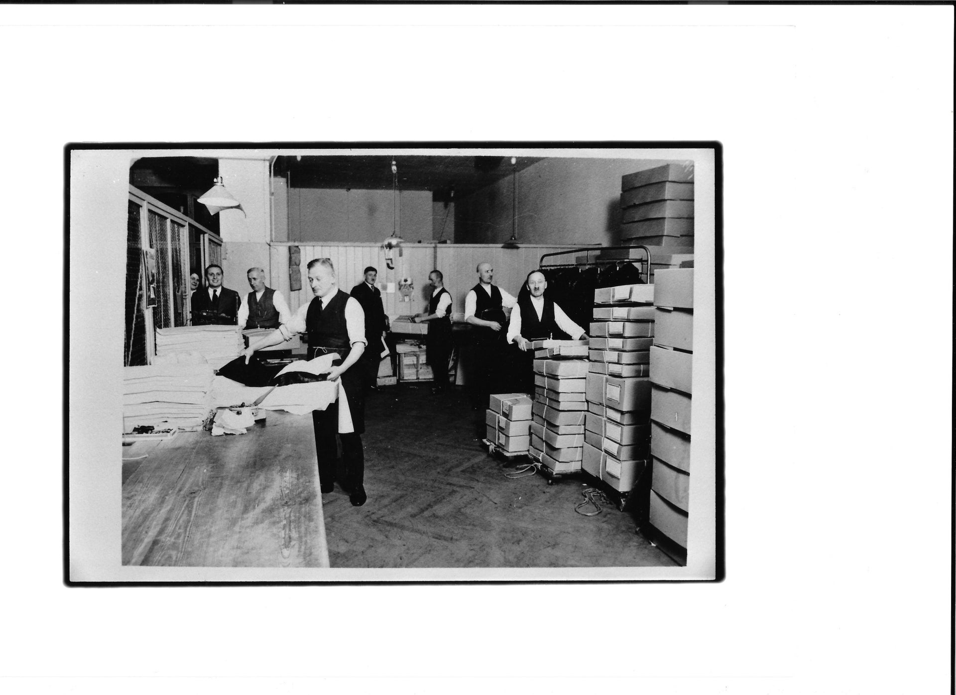 One of the final photographs taken of staff at Leopold Seligman before it was forced into liquidation by Nazi officials in 1935. Seligman left for London and later resettled in New Mexico.