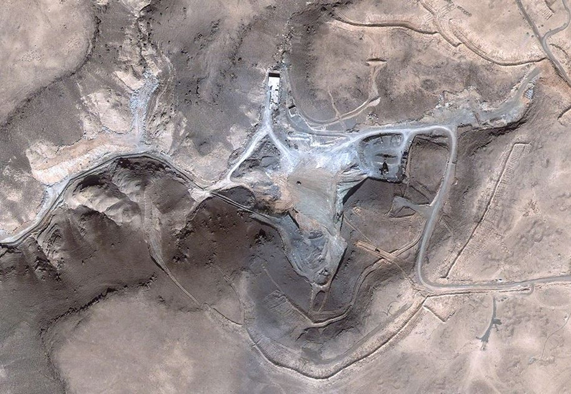 The Syrian reactor several weeks after the Israeli strike