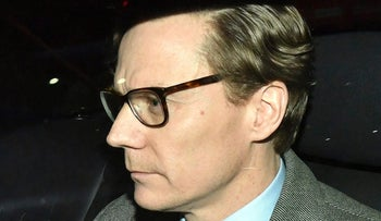 Chief Executive of Cambridge Analytica (CA) Alexander Nix, leaves the offices in central London, Tuesday March 20, 2018.