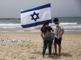 Israeli Independence Day on the Tel Aviv beach, 2 May 2017.