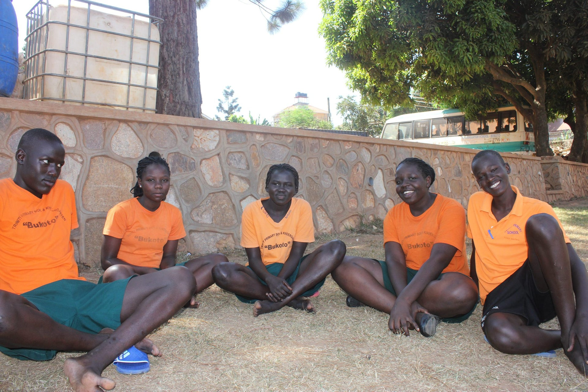 South Sudanese teens who were expelled from Israel with their families and now participate in the Come True project, March 14, 2018.