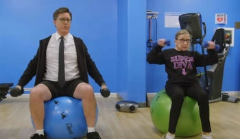 Stephen Works Out With Ruth Bader Ginsburg