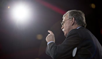 John Bolton speaks during the American Conservative Unions Conservative Political Action Conference (CPAC) meeting in National Harbor, Maryland, U.S., March 3, 2016