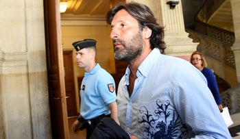 Arnaud Mimran arrives at the Paris courthouse ofor deliberations in his trial over a carbon tax scam,  July 7, 2016