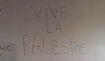 French Jewish student group hit with vandalism: 'Death to Israel', 'Vive la Palestine'