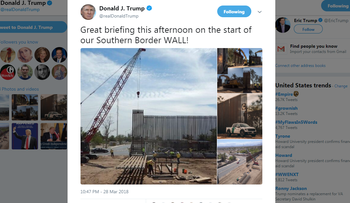 Trump tweets that work is 'starting' on his Mexico border wall. It's not