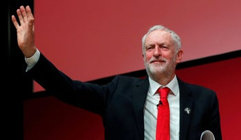 Britain's Leader of the Labour Party Jeremy Corbyn speaks at the Scottish Labour Party Conference in Dundee, Scotland on March 9, 2018.