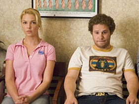"Katherine Heigl and Seth Rogen in a scene from ""Knocked Up."""