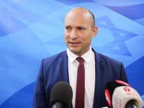 Education Minister Naftali Bennett at a cabinet meeting in the Knesset on March 25, 2018.