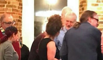 The Labour Party's Jeremy Corbyn attending an alternative Passover seder held by the radical Jewish group Jewdas in Hackney, London.