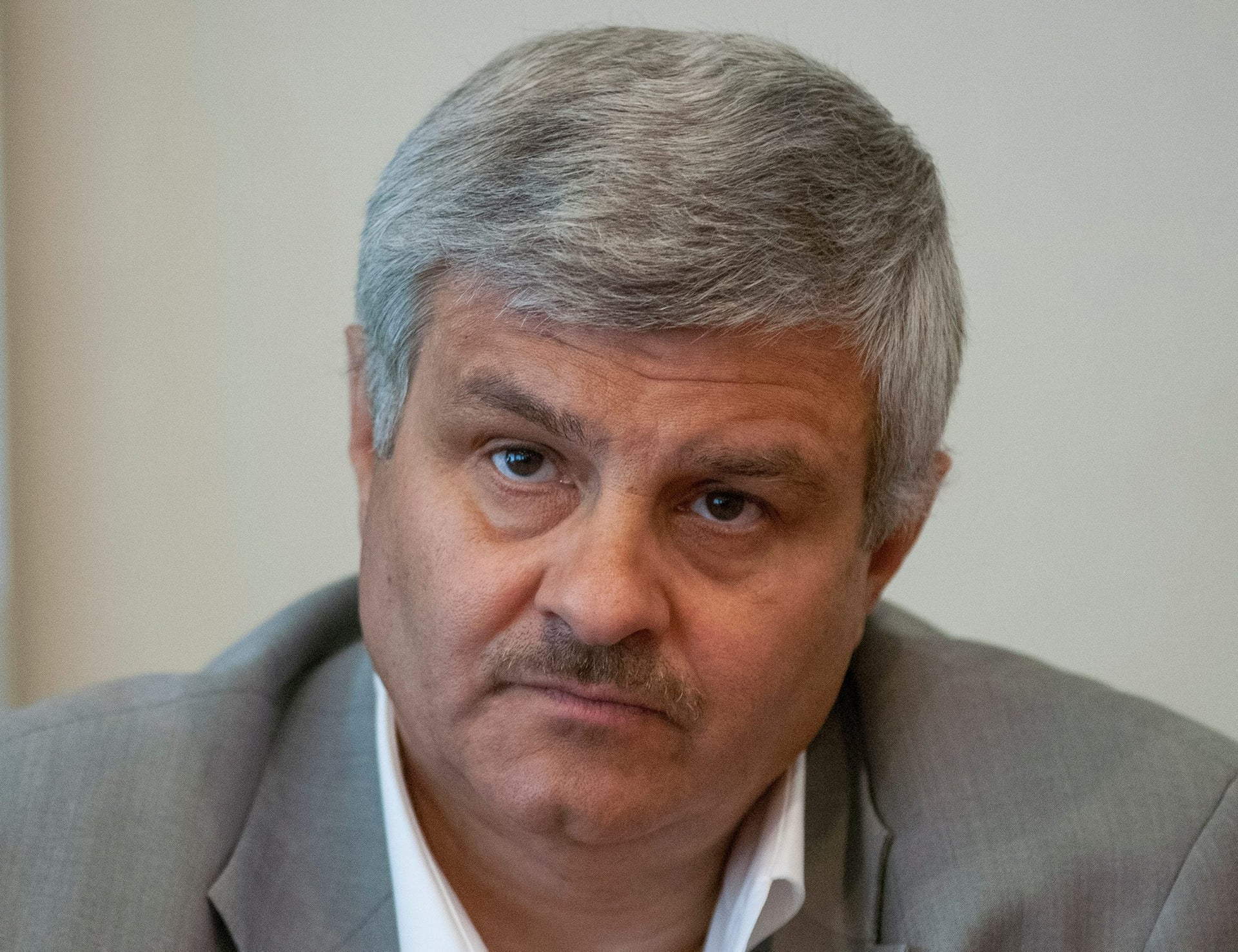 Sergei Tomchani, who helped with founding the air industry firm Khors, attends a news conference in Kiev, Ukraine, July 2, 2010.