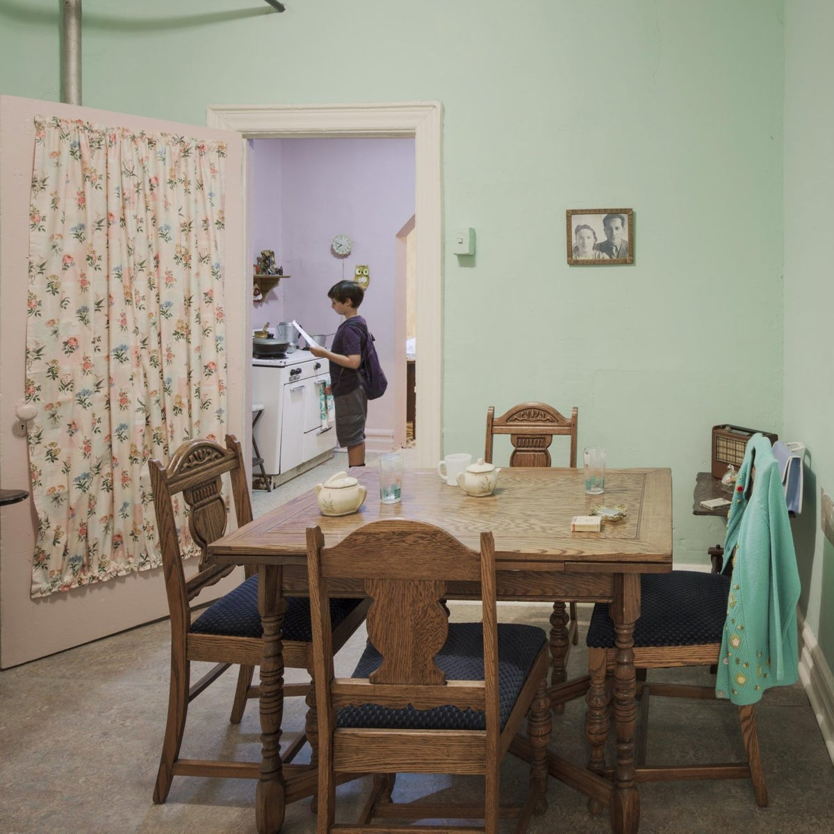 The 'Under One Roof' exhibit tells the story of three families.
