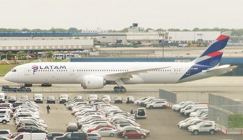 A Latam Airlines plane.
