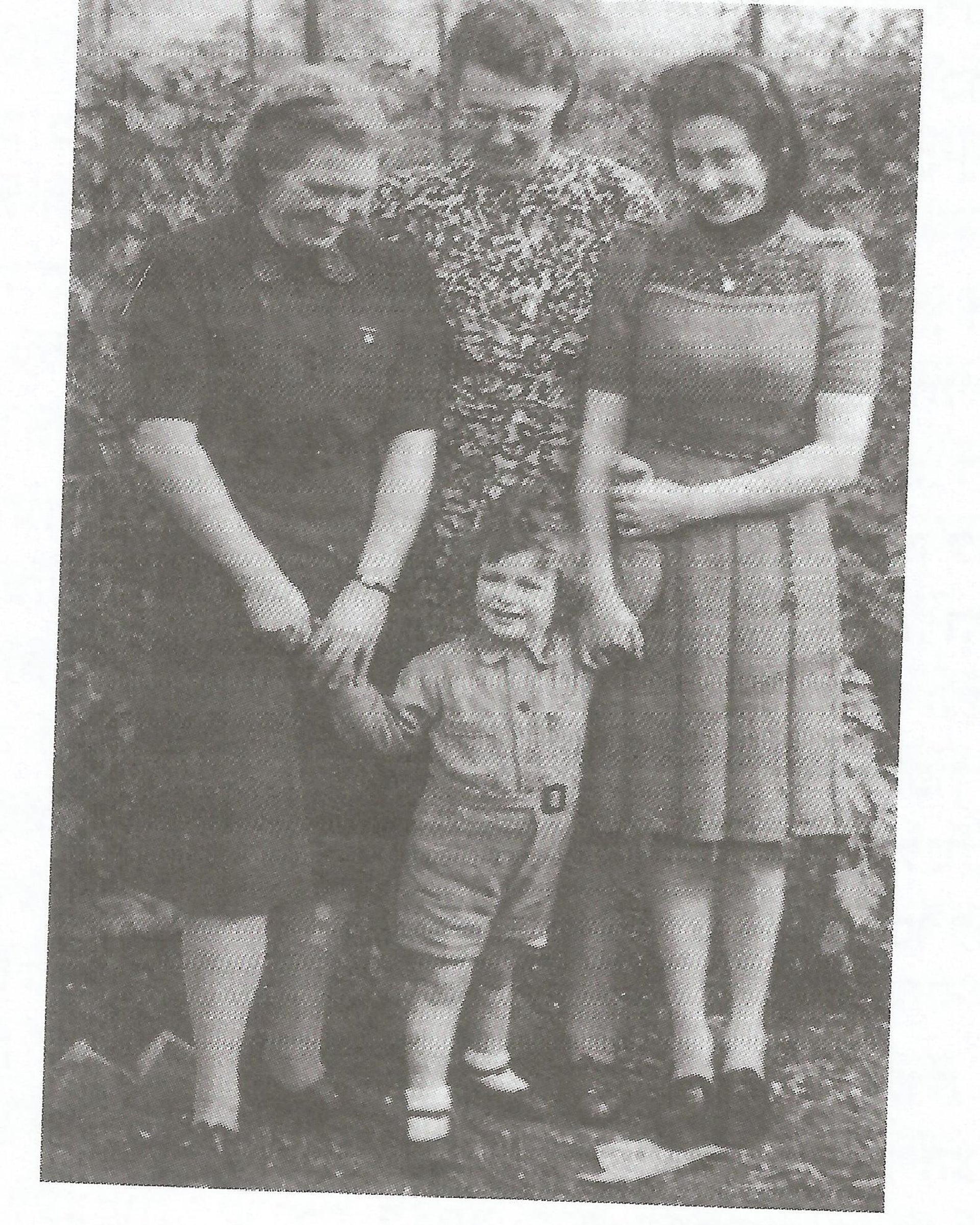 Kanes with his adopted mother (center) in 1944.