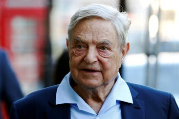 George Soros in London, Britain, June 2016. The Hungary-born Jewish billionaire dominated the Hungarian parliamentary election won by the right-wing Fidesz party.