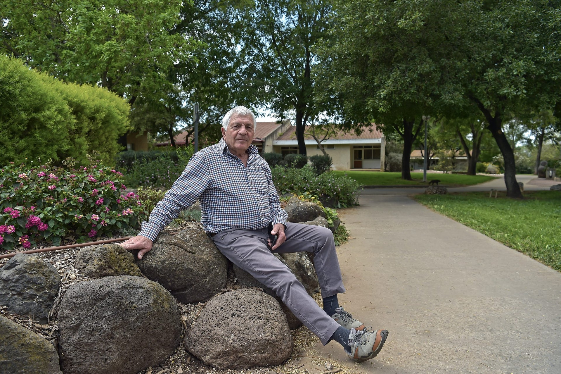 """Ezra Almog at Ein Dor kibbutz. """"When everything is free, people need to exercise a lot of self-restraint not to exploit it."""""""