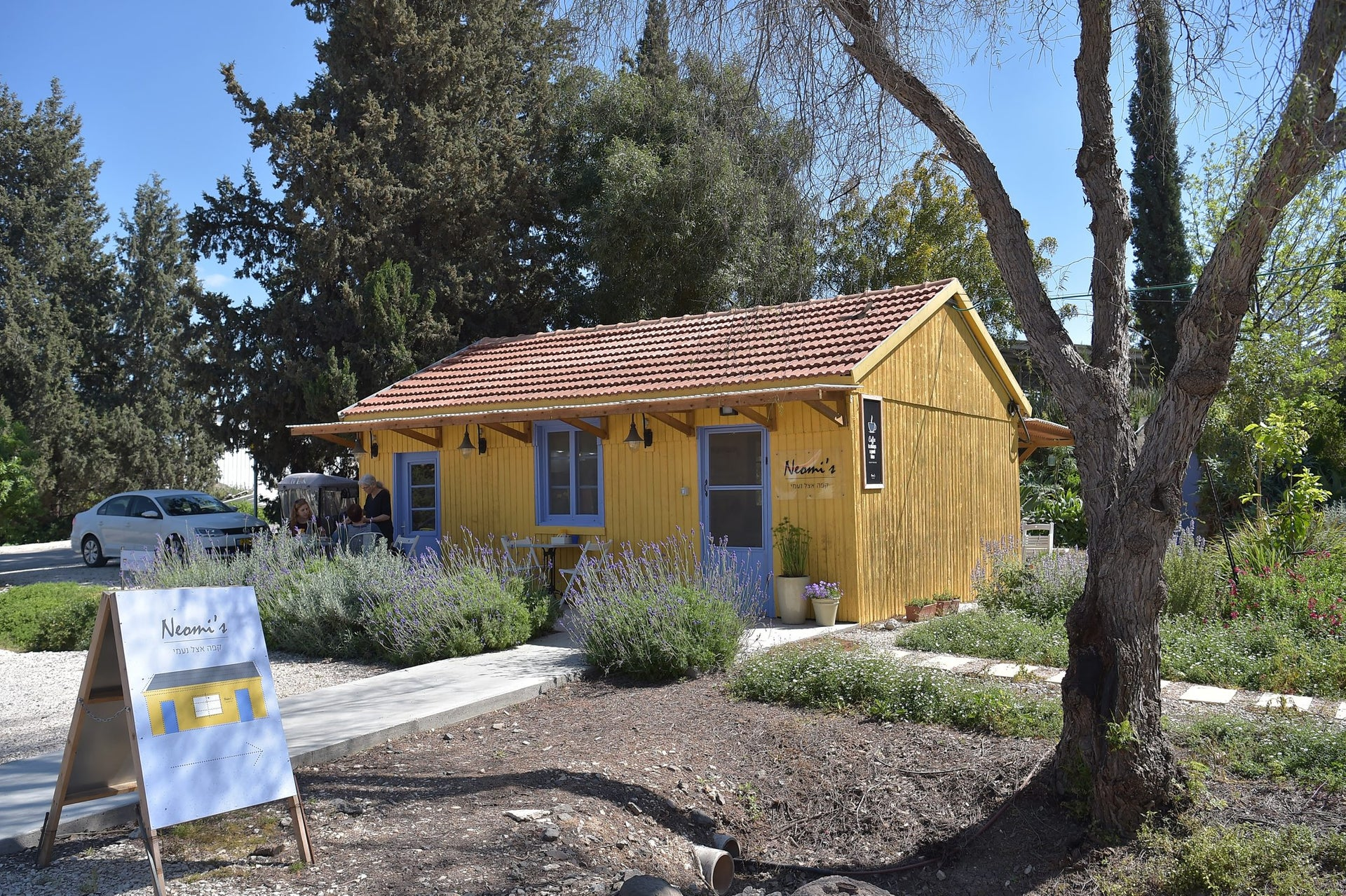 """Neomi Amit's cafe in Yizre'el. """"I always fantasized that one day I would have my own cafe here on the kibbutz that would remind me of Provence."""""""