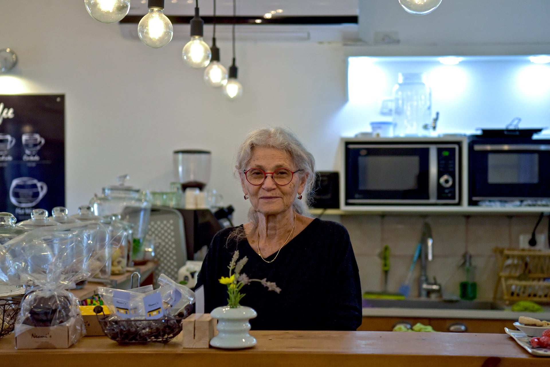 Neomi Amit. Her cafe has become a popular hangout in Yizre'el.