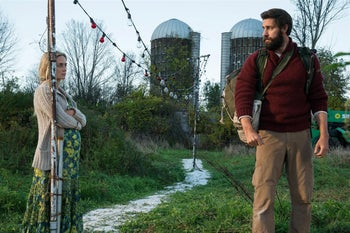 Emily Blunt and John Krasinski in 'A Quiet Place.'