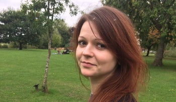 A file photo taken on March 8, 2018 from the Facebook page of Yulia Skripal, the daughter of former Russian spy Sergei Skripal