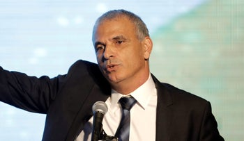 Finance Minister Moshe Kahlon at a ceremony for the signing of a housing agreement in Sderot on April 9, 2018.