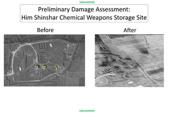 Him Shinshar chemical weapons storage site in Homs.