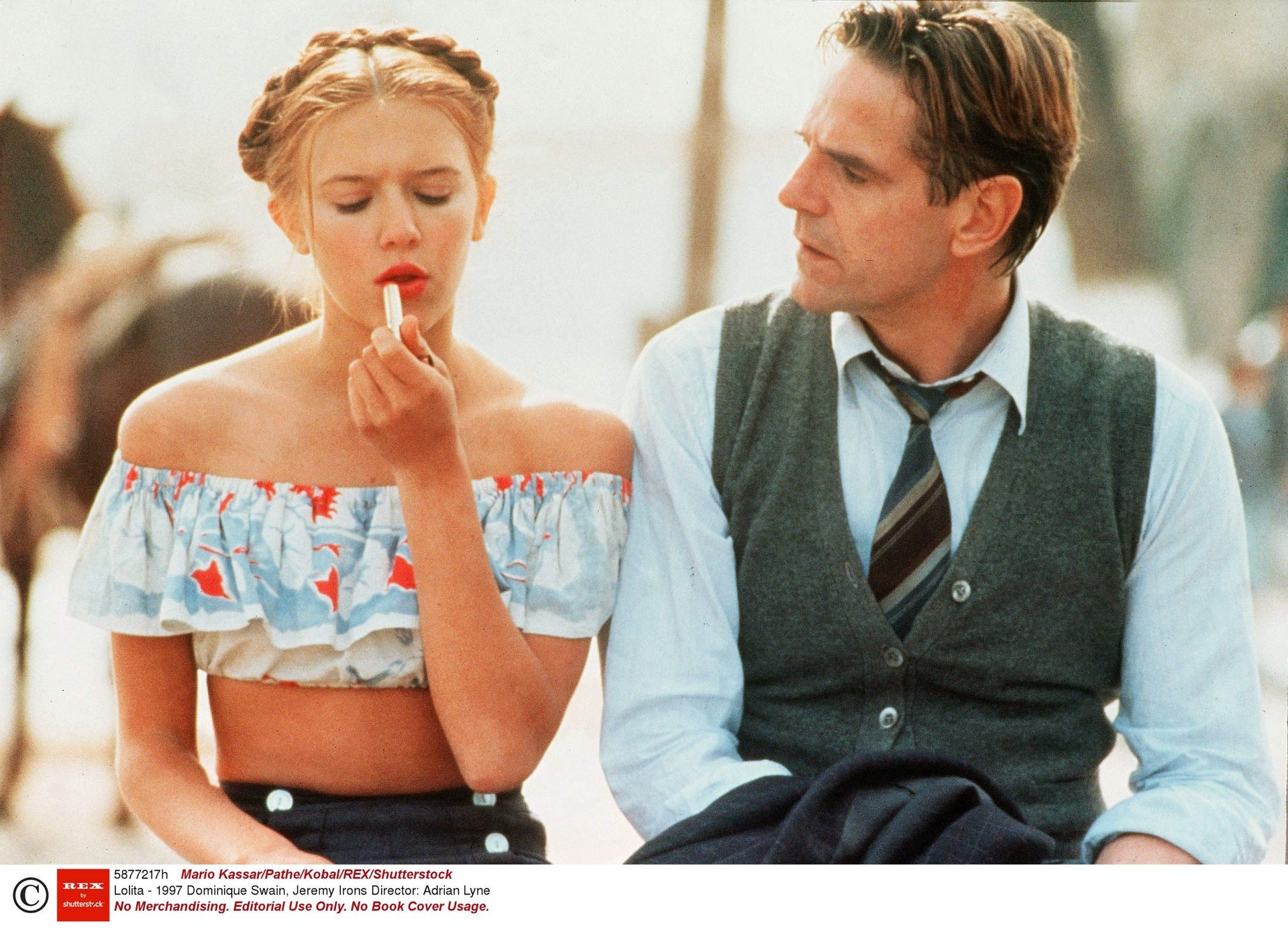 Dominique Swain and Jeremy Irons in the 1997 'Lolita.'