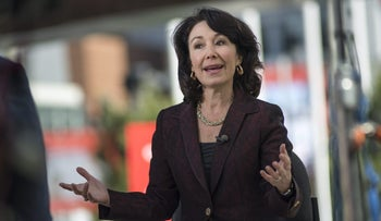 Safra Catz speaks during a Bloomberg Television interview at the Oracle OpenWorld 2016 conference in San Francisco, California, U.S., September 20, 2016.