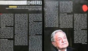 """The Speculator's People"" article in the Hungarian magazine Figyelo, which ""outs"" activists who are supposed supporters of George Soros."