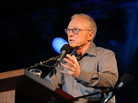 David Grossman at the Alternative Memorial Day event
