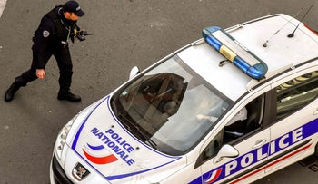 File photo: A French police car on patrol.