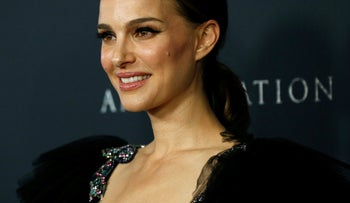 """Natalie Portman poses at the premiere for """"Annihilation"""" in Los Angeles, California, U.S., February 13, 2018"""