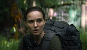 "This image released by Paramount Pictures shows Natalie Portman in a scene from ""Annihilation."""