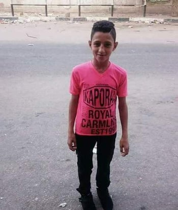 Mohammed Ayoub, 15, who was killed during protests near the Gaza border.