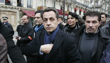 Nicolas Sarkozy participates in a march against anti-Semitism after the brutal killing of Ilan Halimi, a Parisian Jew, in Paris, France, Sunday, Feb. 26, 2006
