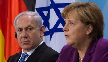 German Chancellor Angela Merkel and Israeli Prime Minister Benjamin Netanyahu in Berlin, 2011. Their views on the Iran deal are far apart.