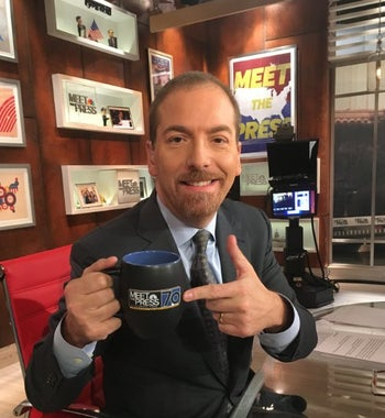 "Chuck Todd in the ""Meet the Press"" offices."